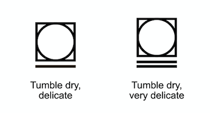 Tumble drying advice